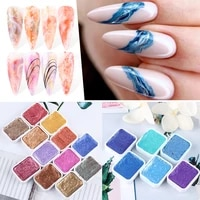 multicolor nail art fixed metal pearlescent watercolor smudge painting glue fashion charm nail paint nail dip dye painting