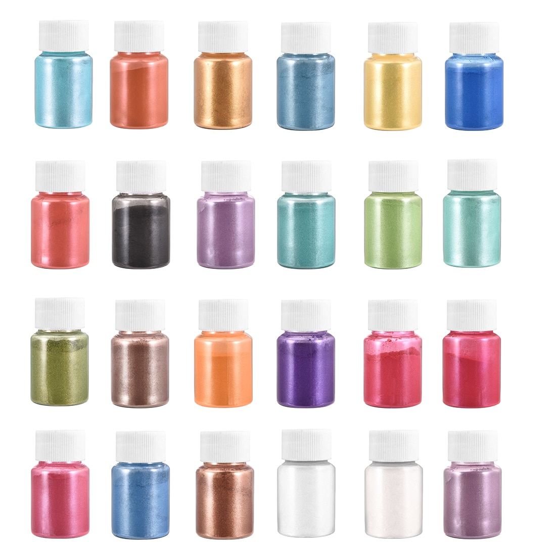 24 Color 10g Resin Pigment Filler For DIY Jewelry Making Pearl Powder UV Epoxy Nail Pigment Resin Mold Accessories Nail Art