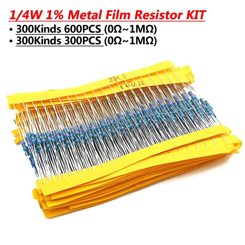 24valuesx10pcs = 240 pces 1/4 w 0.25 w 1% 4.7 k-68 k metal filme resistor componente kit diy pacote novo e original