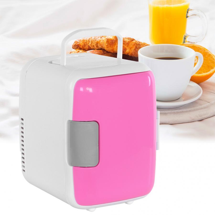 4L портативный однодверный холодильник для отопления, охлаждения, мини-холодильник для путешествий, автомобильный холодильник с морозильно...