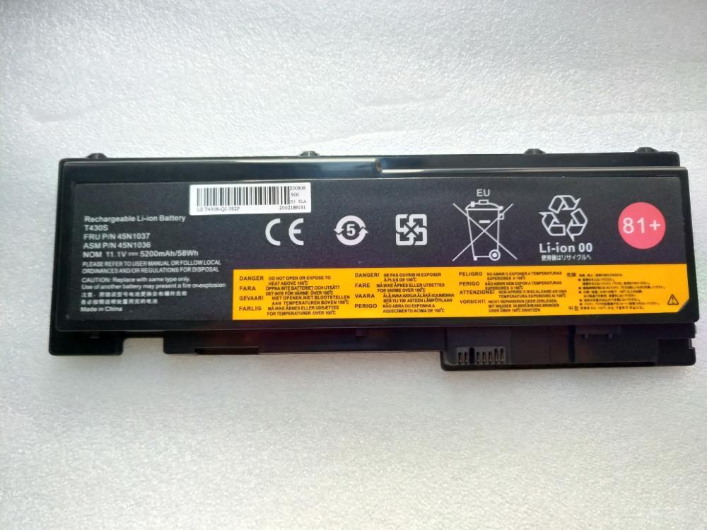 Free shipping  44wh Battery for  ThinkPad T430s T430si 45N1036 45N1037 45N1064 45N1065