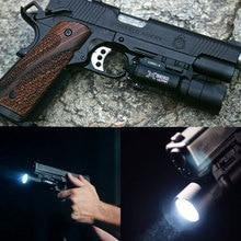Arma militar LED Airsoft Gun luz 500 lúmenes constante/momentáneo 20mm Picatinny Weaver Rail táctico linterna de pistola