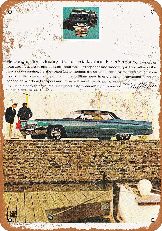 WallColor 8*12 signo de Metal 1968 Cadillac sedán de Ville de aspecto...