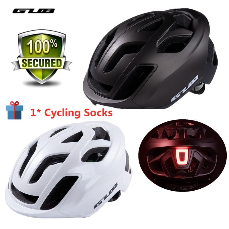 GUB-Casco ultraligero para bicicleta de carreras, con luz trasera, transpirable, para Ciclismo...