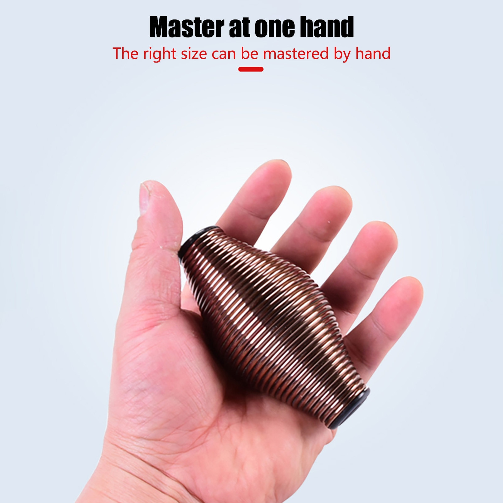 Decompression toy spring grip ball metal grip device adult decompression toy pinch music to relieve stress 2PC антистресс 40* enlarge