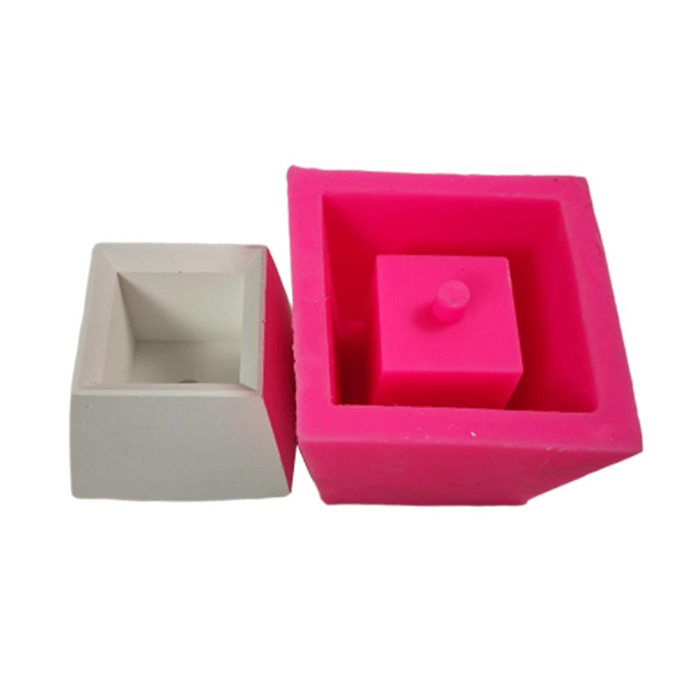 Moldes para macetas de silicona para manualidades, taza poligonal, DIY, macetas de arcilla suculentas, yeso, molde de yeso, molde de hormigón