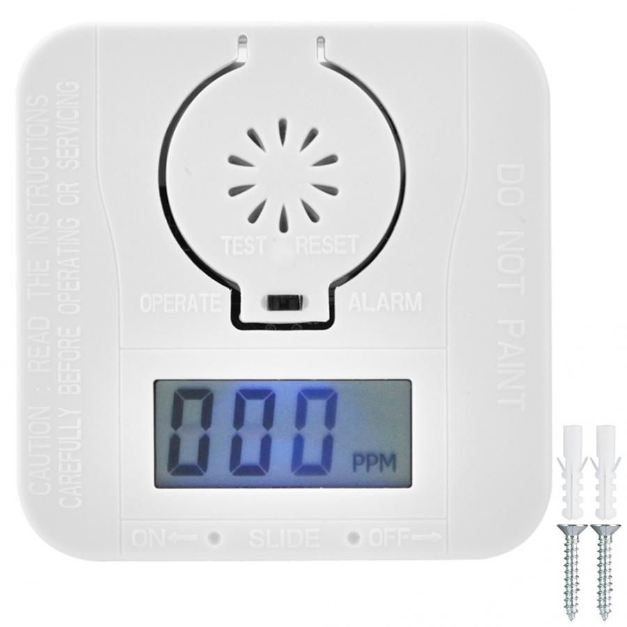 CO детектор угарного дыма, сигнализация, Датчик Предупреждения ядовитого газа, датчик безопасности, сигнализация, ЖК-дисплей, фотоэлектрические детекторы