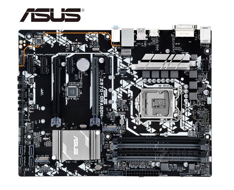 تستخدم ل ASUS Z370-DRAGON اللوحة الأم الأصلي ل ASUS إنتل LGA 1151 DDR4 I3 I5 I7 USB2.0 USB3.0 USB3.1 اللوحة الرئيسية