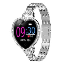 FEOOE Girls Smart watch for lovers Smart Bracelet Heart Rate Bluetooth Sports Compatible with Androi