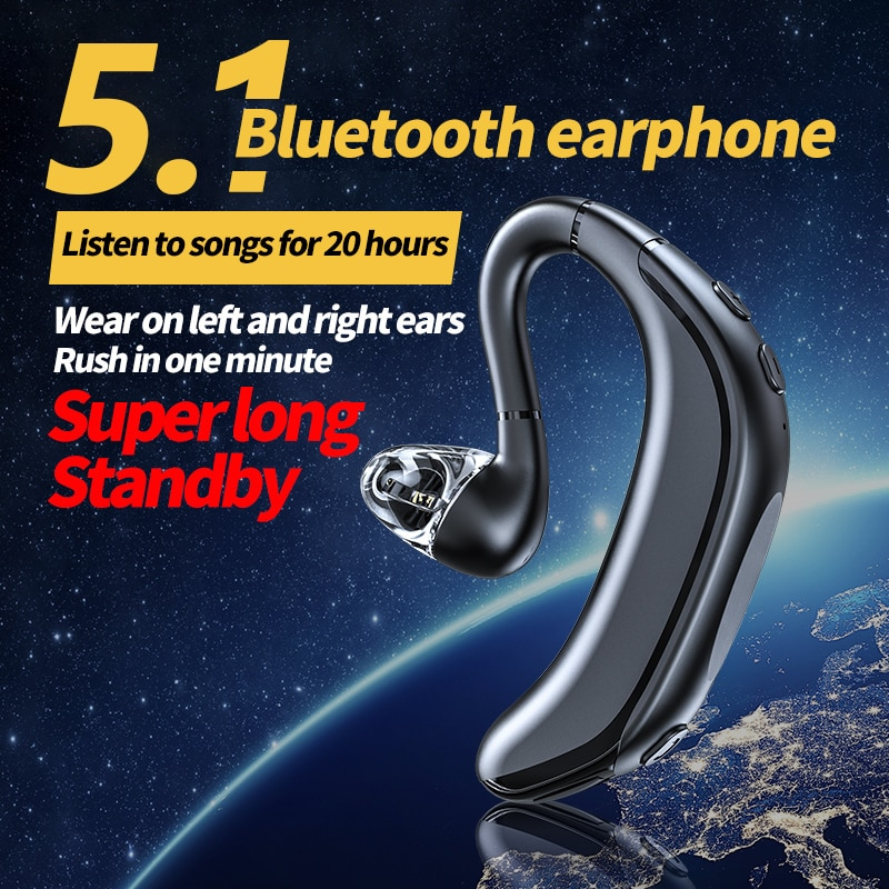 TWS Wireless Bluetooth 5.1 Earphone  Stereo Sports Business Headset IPX5 Waterproof With Microphone For iPhone Samsung