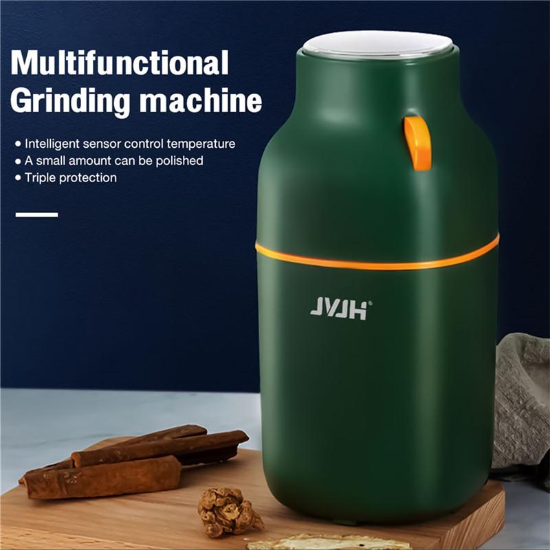 JVJH مطحنة بن كهربائية المطبخ المكسرات الفول التوابل الحبوب مطحنة آلة للطفل الغذاء الفلفل التوابل طحن القهوة طحن