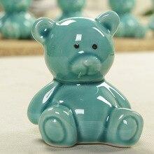 Mini Ceramic crafts  lovely bear piggy bank  ornaments  friend gift  Ice crack glaze  figure  money box  saving box  Saving pot