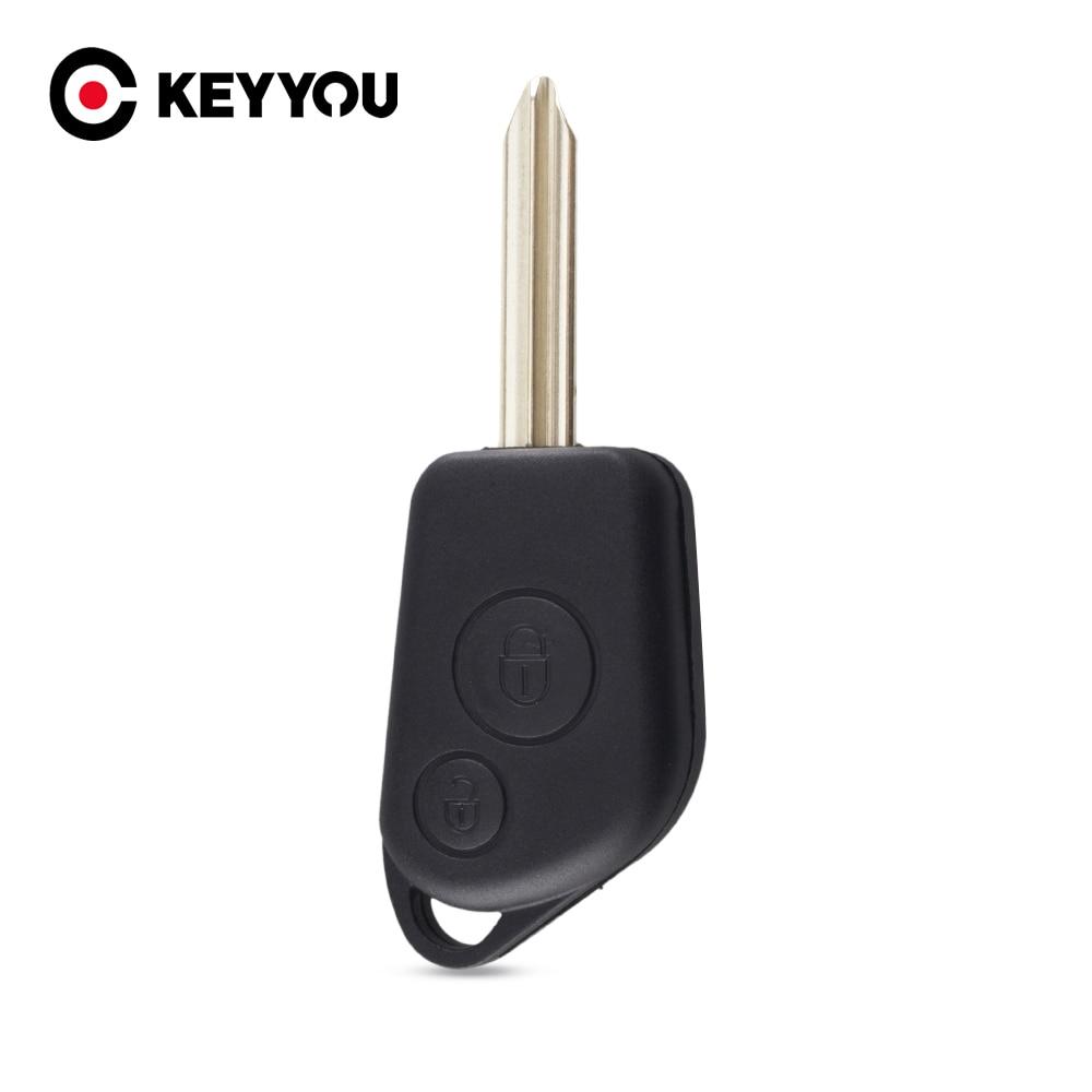 KEYYOU 2 шт./лот новый запасной пульт дистанционного управления, брелок с 2 кнопками и лезвием для Citroen Saxo Xsara Picasso, бесплатная доставка