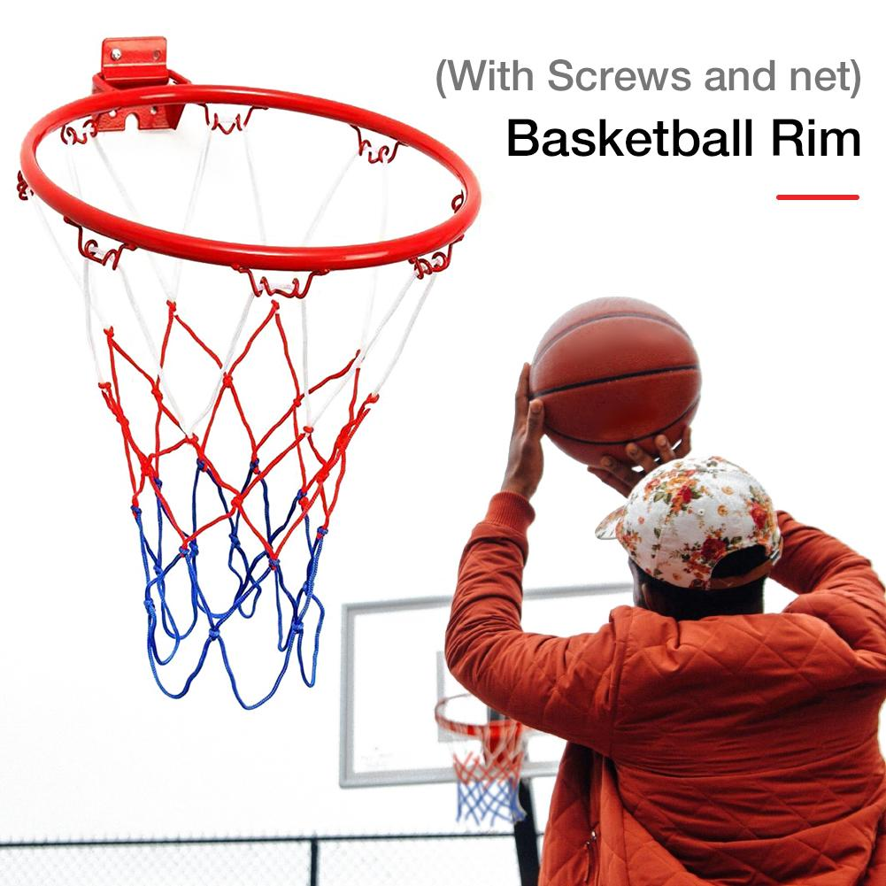 32CM Hanging Basketball Wall Mounted Goal Hoop Rim Net Sport Net Indoor And Outdoor Basketball Wall Hanging Basket Net