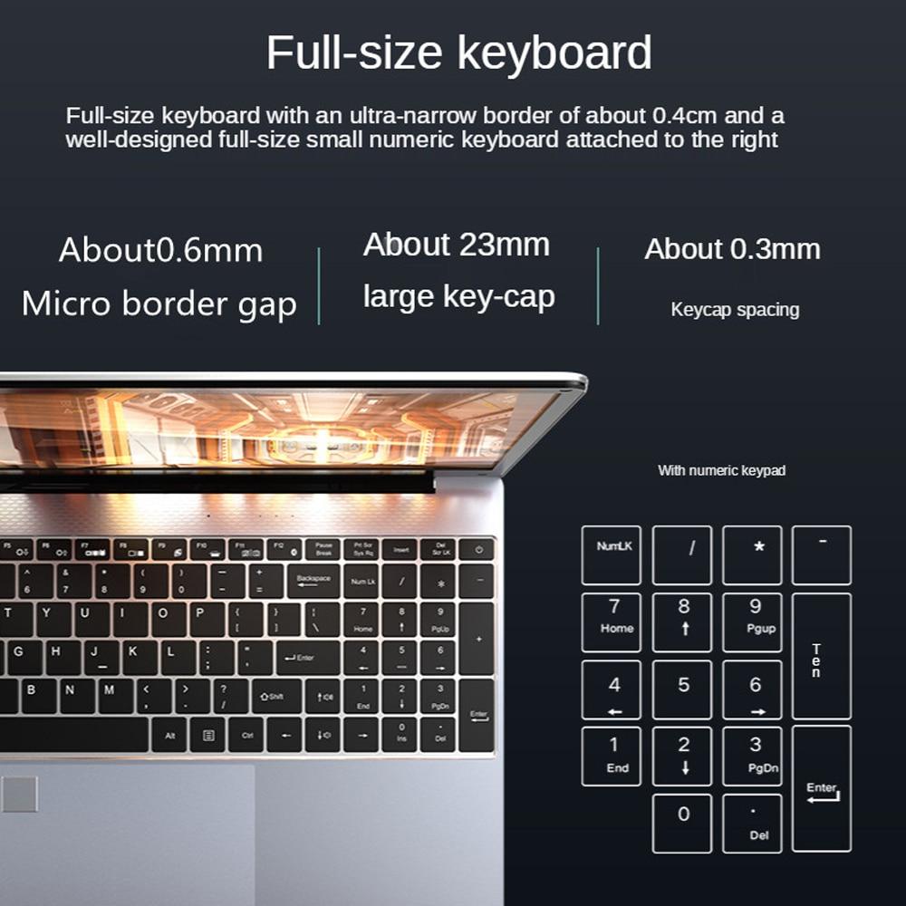Fingerprint unlocking notebook computer Intel Core 6157U portable student netbook office business ultra-thin gaming Laptop RJ45