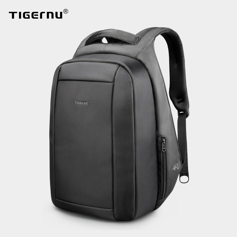 Gizli oğurluq anti-fermuar 15.6 düymlük kişi məktəbli laptop sırt çantaları su itələyici səyahət 20l çox USB şarj cihazı