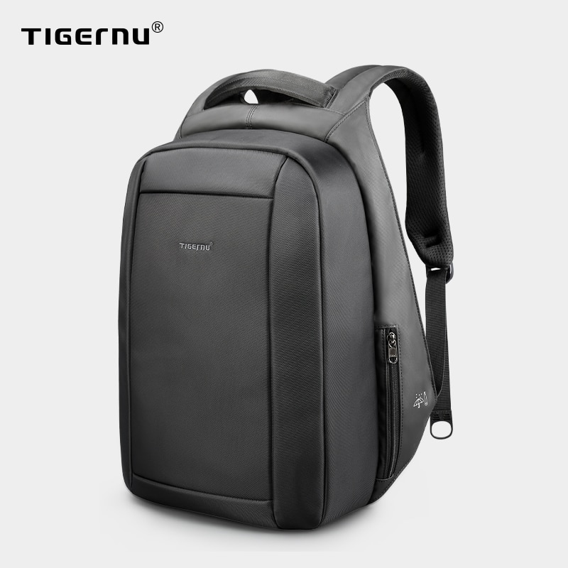 Zíper anti-roubo oculto, mochilas para laptop escolar masculino de 15,6 polegadas, repelente de água, carregador multi USB 20l