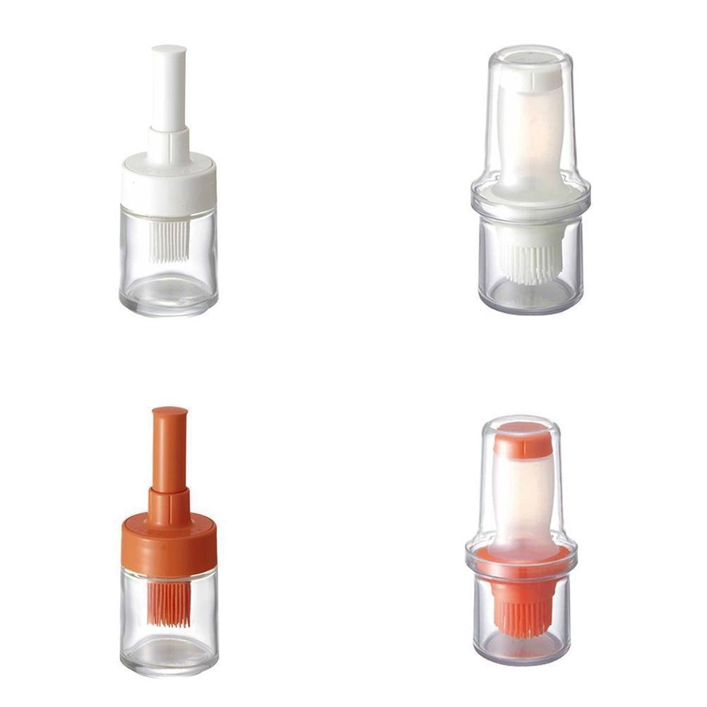 Портативная силиконовая бутылка для масла с щеткой, технические кисти, жидкое масло, кондитерские изделия для кухни, выпечки, барбекю, инстр...