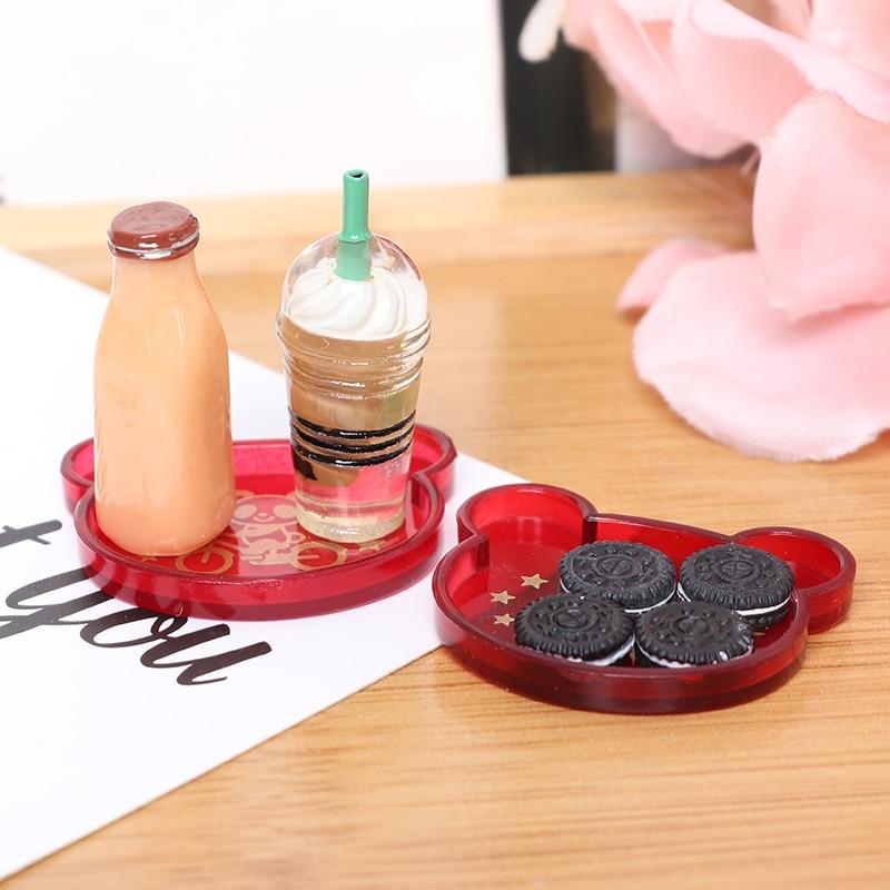 Mini botella de café de resina para bebidas, galleta, juego de cocina,...