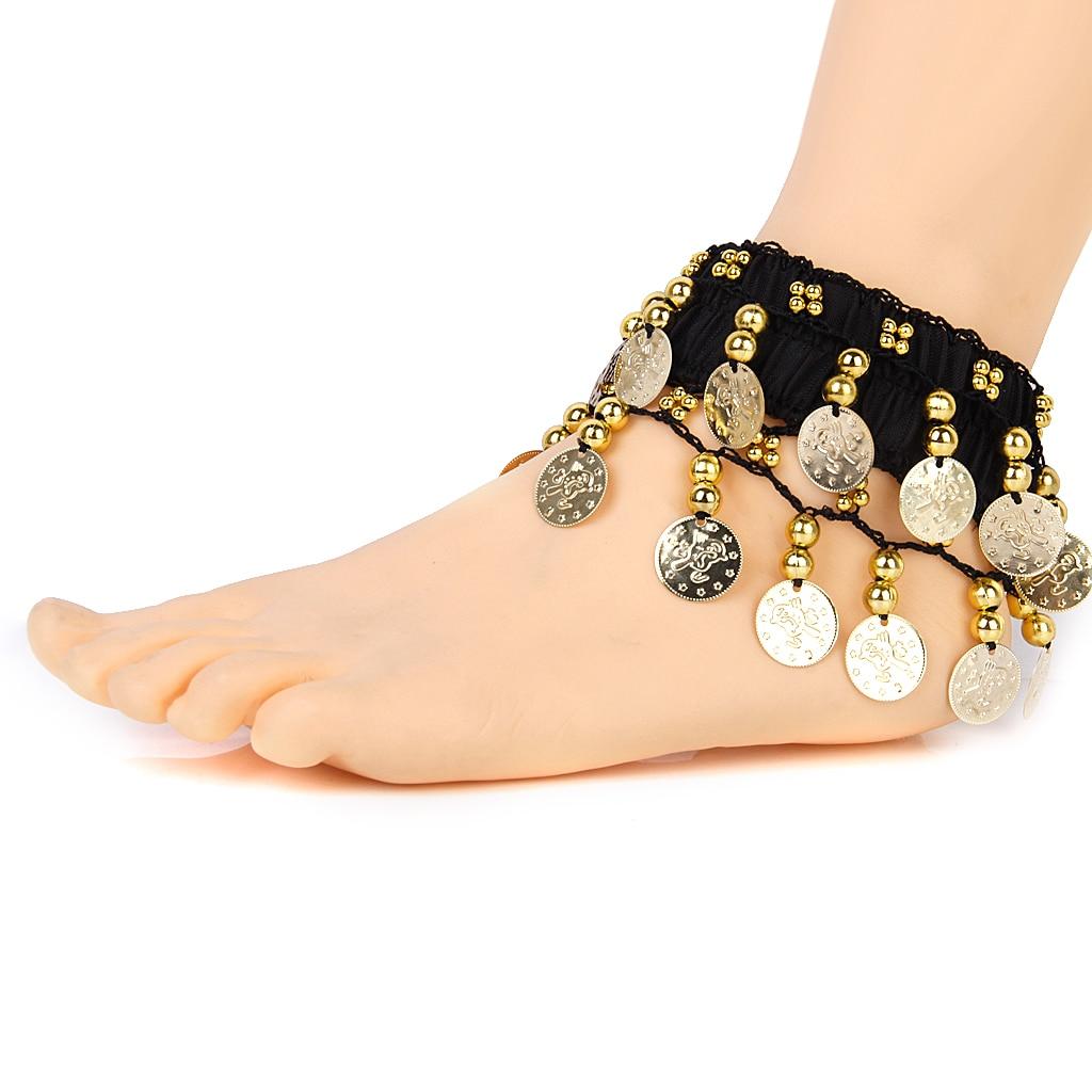 24 monedas de oro disfraz de niña danza del vientre MUÑECA/tobillo/pulsera de tobillo brazalete nuevo