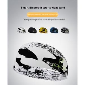 Wireless Bluetooth Sports Headband with Reflective Striped Design For Night Running Sweat absorption Sports Headphones