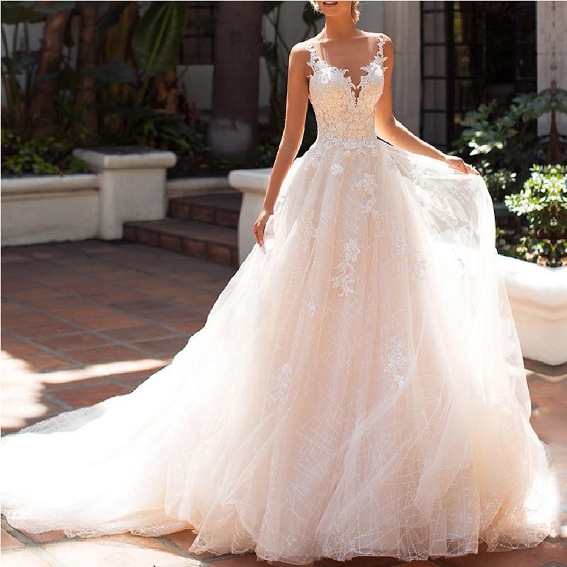 Vestido De Novia De encaje sin mangas, Bohemia boda, con apliques De...