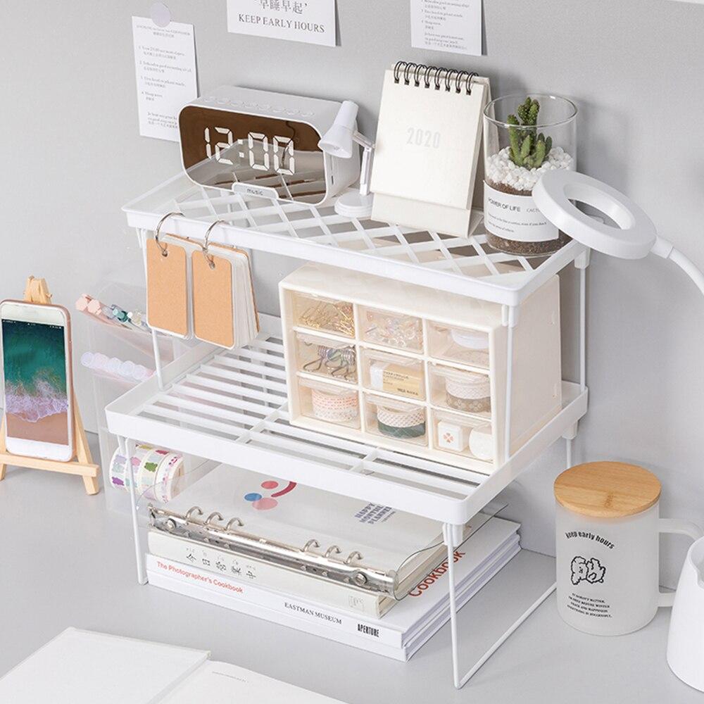 Multi-função de armazenamento de filme desktop prateleira de armazenamento dobrável base de mesa levantada mão conta artigos de papelaria novo, vários modelos