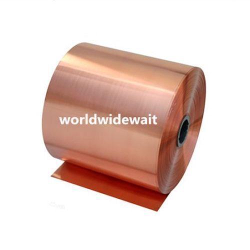 Placa de lámina de Metal Cu de 200x1000mm, 99.9% cobre puro, 0,05/0,08/0,1/0,2/0,3/0,4/0,5/0,6/0,8/1mm de espesor, 1 unidad