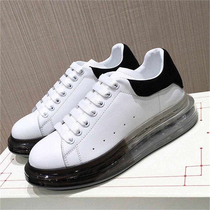 Hjwsfdcai الفاخرة مصمم الجلود الطبيعية أحذية رياضية نسائية عادية تنس الرجال احذية الجري الأزواج الربيع الخريف للجنسين