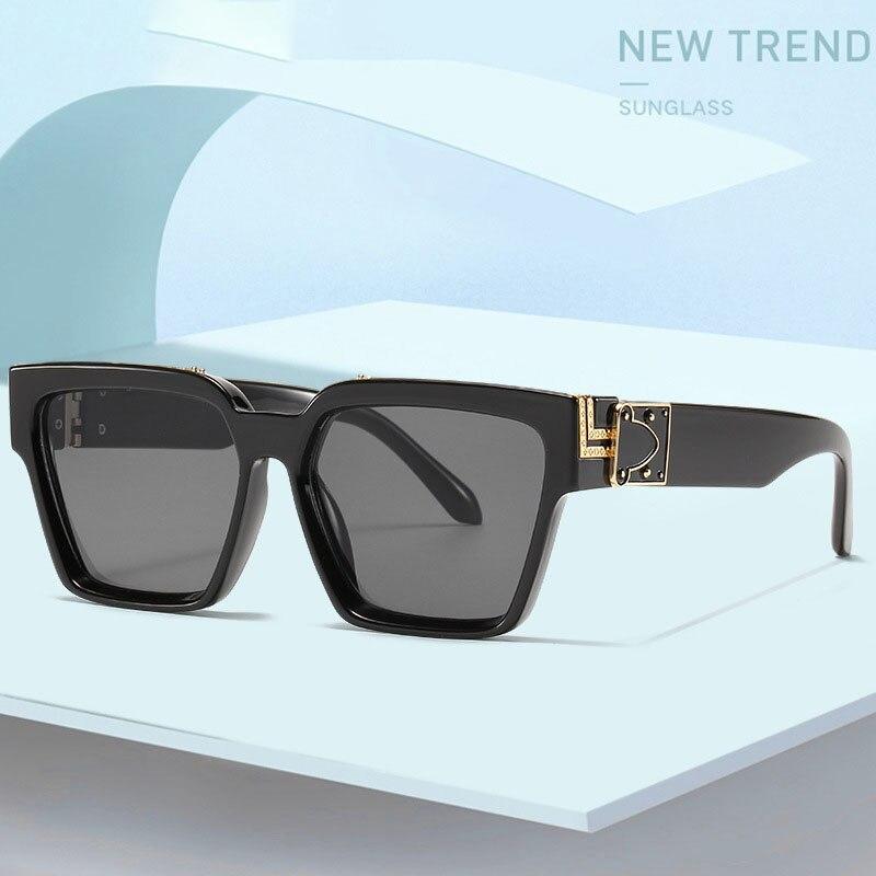 2021 Men's Women's Retro Sunglasses Men's Square Big Frame Personality Sunglasses Fashion Bungee Glasses Trendy Women