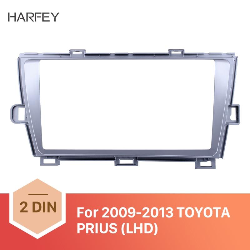 Harfey de 9 pulgadas Marco de radio de coche para 2009, 2010, 2011, 2012, 2013 TOYOTA PRIUS LHD de Audio Dash Trim para Panel de salpicadero Kit