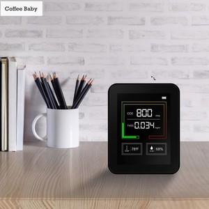 Desktop Air Quality Detector Multifunction Co2 Tester TVOC Meter Temperatur Measuring Device Carbon Dioxide Monitor Gas Detector