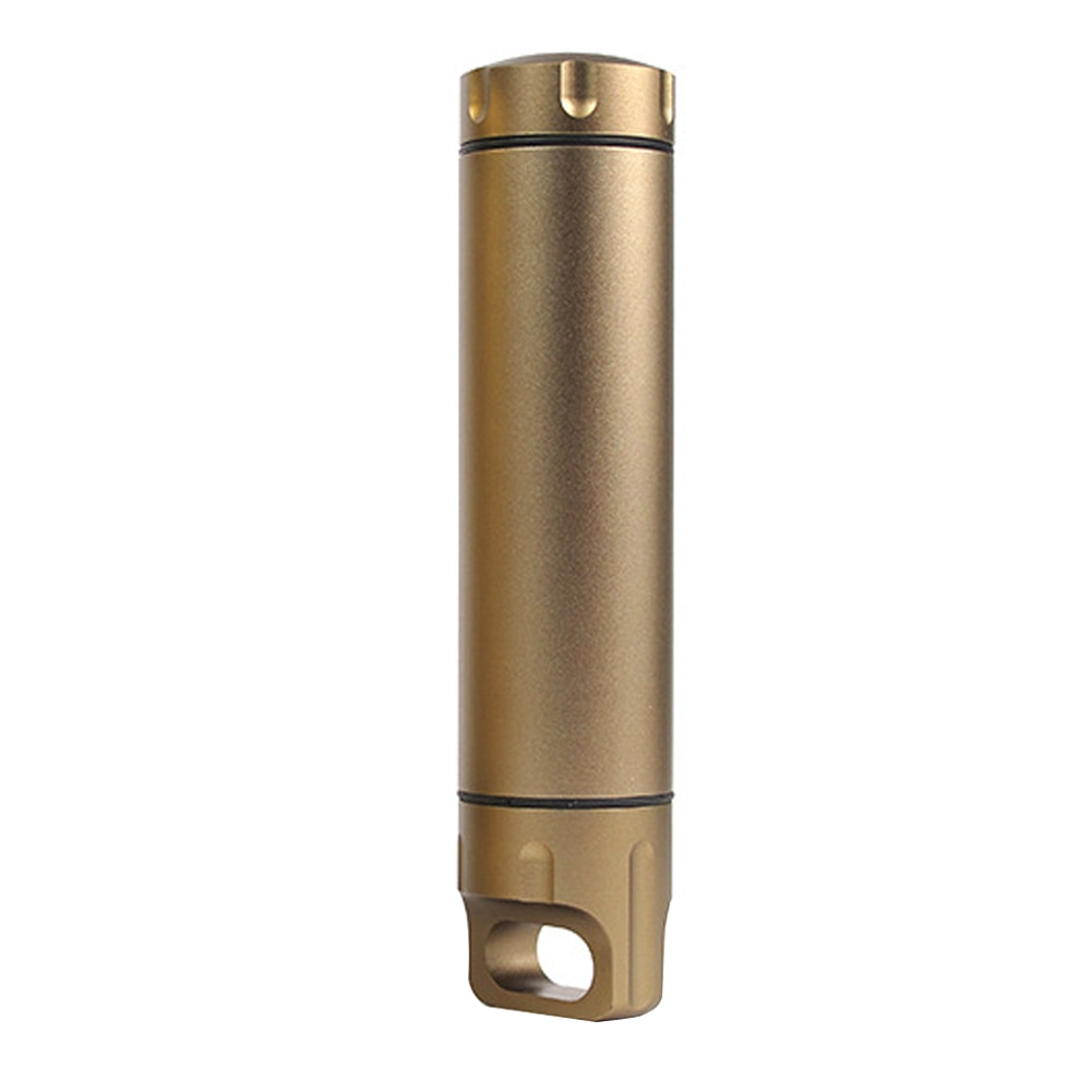 Emergency Capsule Bottle Seal Capsule Bottle Outdoor Equipment Sealed Tank Aluminum Alloy Gold Waterproof Canister Container cnc pure titanium waterproof storage tank sealed tank titanium alloy high end portable medicine bottle outdoor pill cases