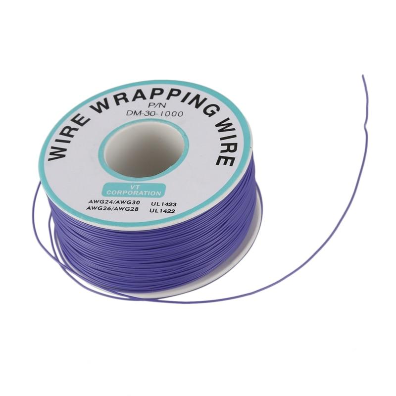 Hthl-púrpura PVC recubierto de estaño alambre de cobre-envoltura 30AWG Cable 305M
