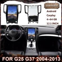 2 din Android autoradio pour Infiniti G25 G37 2004-2013 autoradio lecteur multimédia GPS Navigation HD écran Vertical