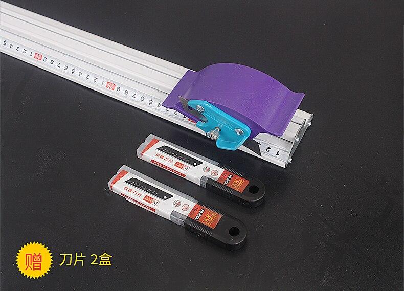 لوح Kt Pvc ، مسطرة قطع يدوية ، سبائك الألومنيوم ، مسطرة تحديد المواقع غير القابلة للانزلاق ، مسار القطع ، أداة النجارة ، 70 سنتيمتر