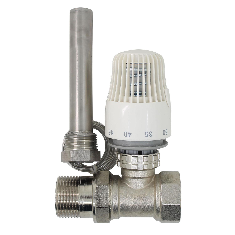 30-70 درجة التحكم الطابق نظام التدفئة المشعاع الحراري صمام M30 * 1.5 عن بعد تحكم 2 الطريقة صمام DN15 DN20 DN25 DN32