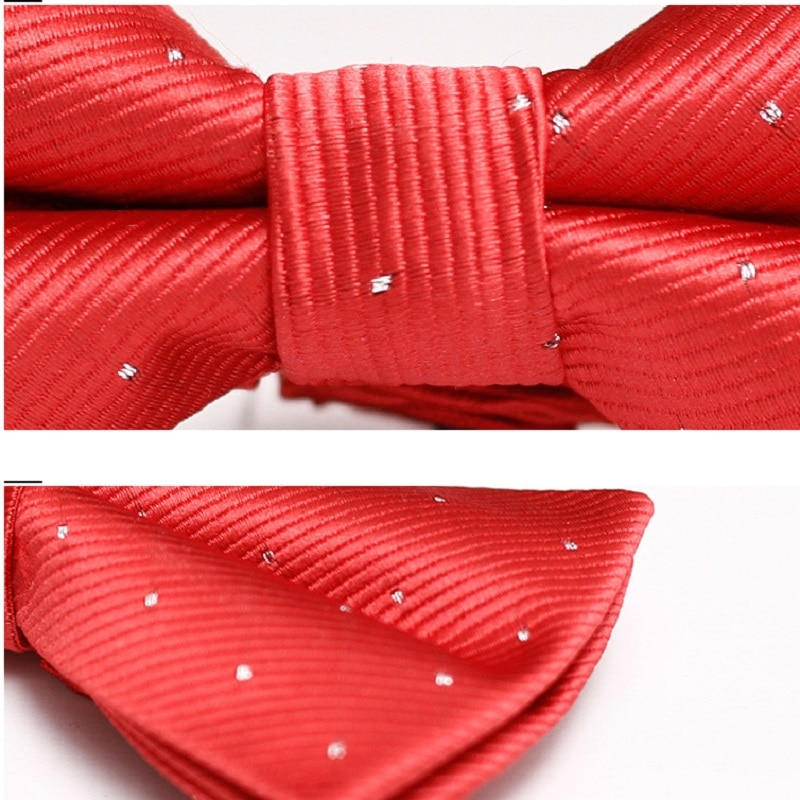High Quality Red Bowtie For Men Great For Party Fashion Groom Wedding Ties Anniversary Butterfly Tie With Gift Box