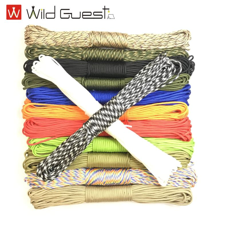 Length 31 M Dia.4mm 7 Stand Cores Paracord For Survival Parachute Cord Lanyard Camping Climbing Rope Hiking Clothesline 5 meters dia 4mm 7 stand cores paracord for survival parachute cord lanyard camping climbing camping rope hiking clothesline