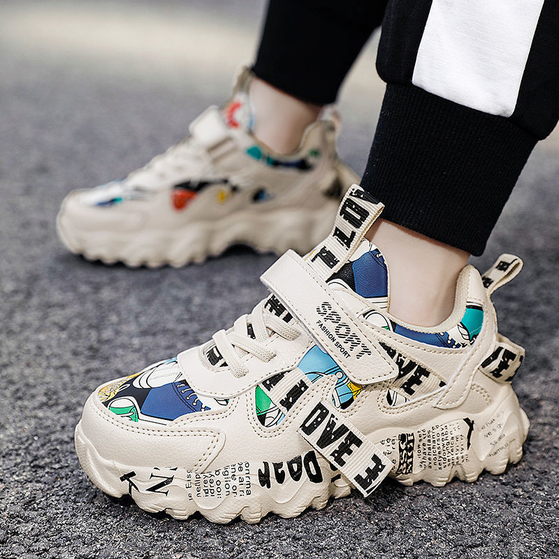 2021 Spring Sneakers Kids Sports Shoes For Boys Children Casual Boy Sneaker Graffiti Girls Student S