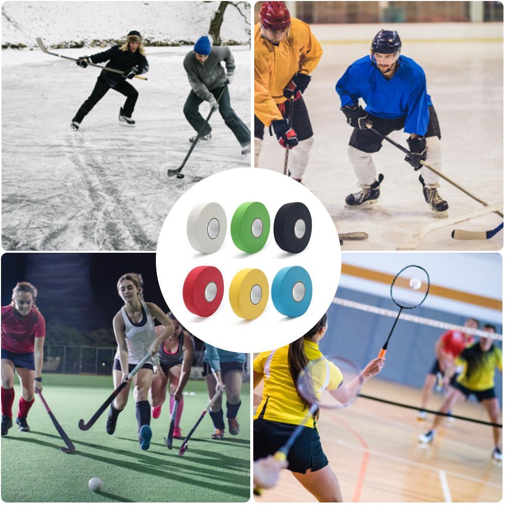 1PCS Hockey Tape Badminton Handle Bike Grip Handlebar Hockey Stick Tape Ice Hockey Non-Slip Cloth Sticky Tape 2.5cm X 25m