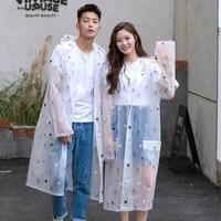 lovers raincoat fashion couple rainwear eva men raincoats transparent women rain coat adult hiking rain poncho for climbing