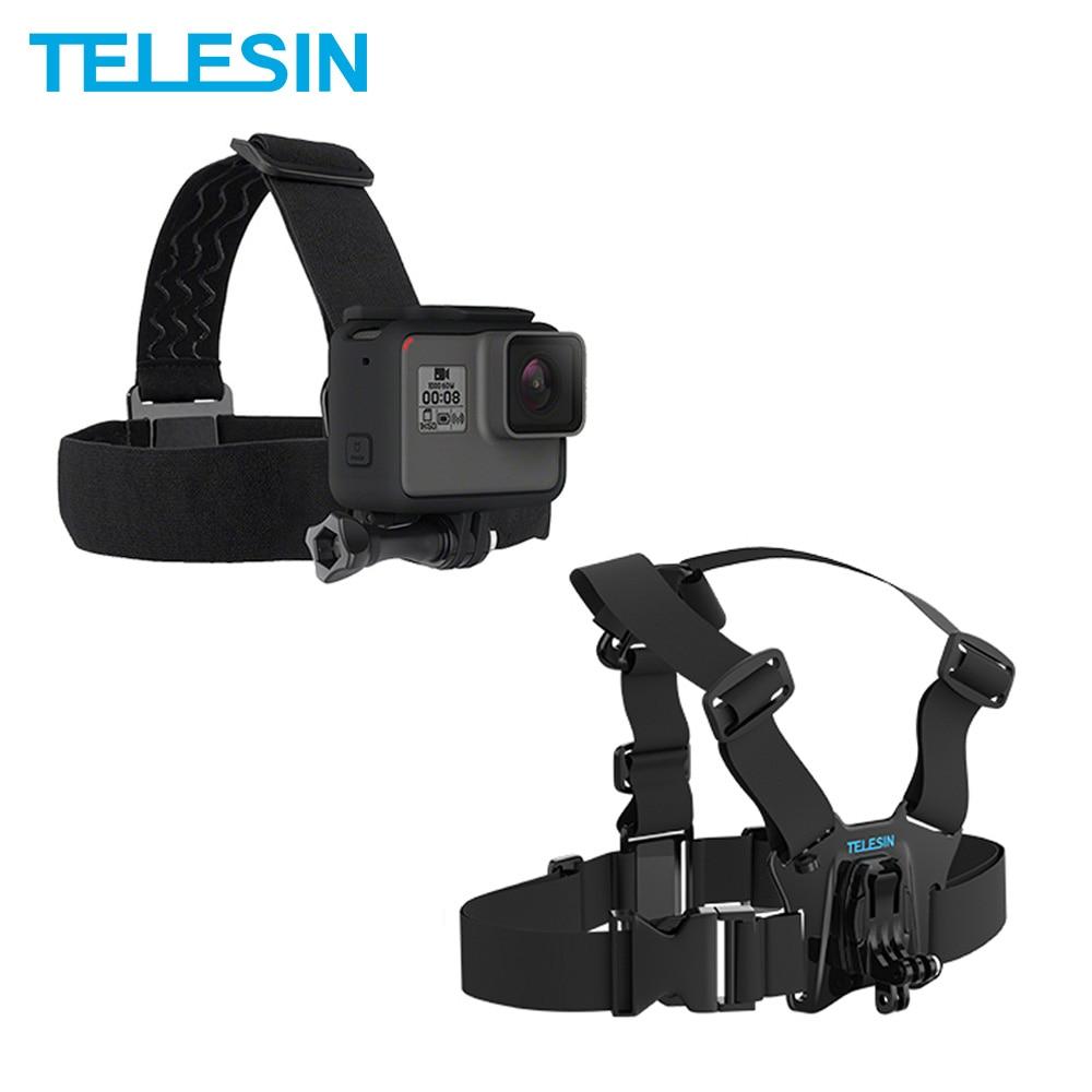 Фото - TELESIN Chest Belt Head Strap Mount for GoPro Hero 9 8 7 6 Hero 5 4 3 2 for Xiaomi Yi 4K Mijia 4K SJCAM for EKEN Accessories telesin монопод трансформер 3 way с ручкой поплавком для gopro xiaomi sjcam eken