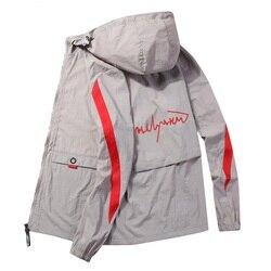 Мужская Солнцезащитная одежда, пара моделей, новая модная трендовая Женская Солнцезащитная одежда с капюшоном, мужская легкая куртка