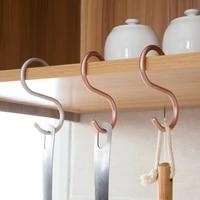 3pcs s shaped hooks hanger key holder kitchen bathroom hanging hangers organizer clothes storage rack aluminous