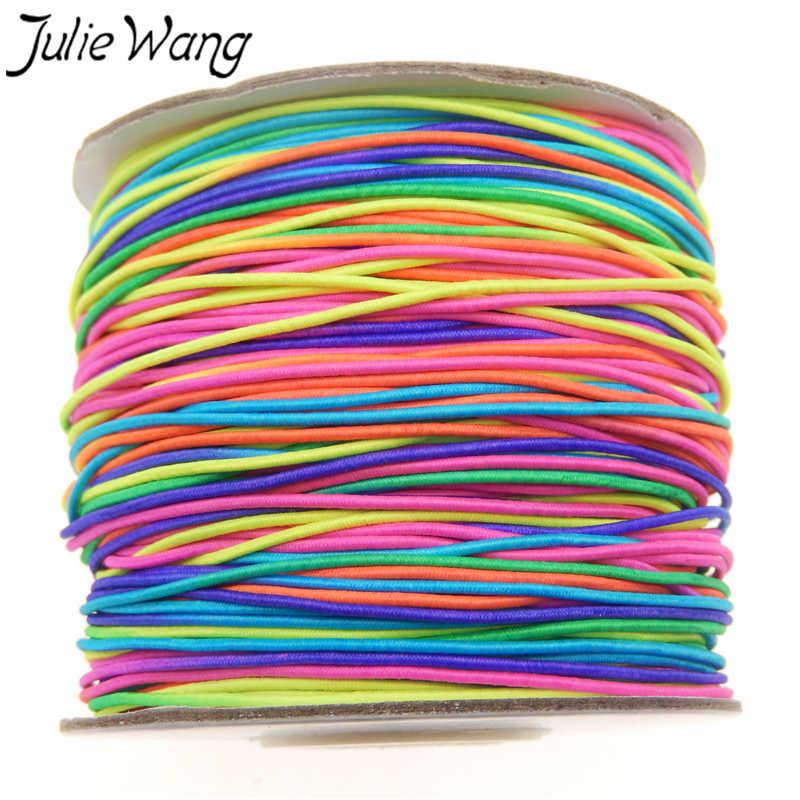 Cuerda Elástica Flexible colorida de 5 metros DIY para hacer joyas abalorios cuerda de rosca accesorios para manualidades diámetro 1mm YW-372