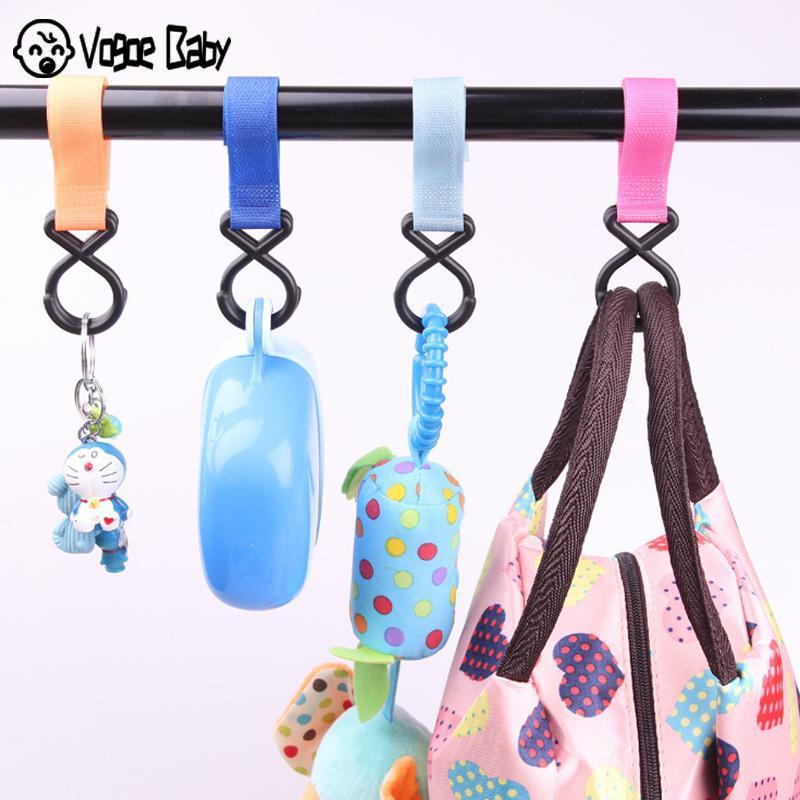 Children Stroller Hooks Infant Pram Pushchair Car Hanger Hanging Strap Convenient Plastic Baby Stroller Accessories M3615