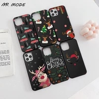 christmas tree elk santa claus phone case candy color for iphone 6 7 8 11 12 s mini pro x xs xr max plus