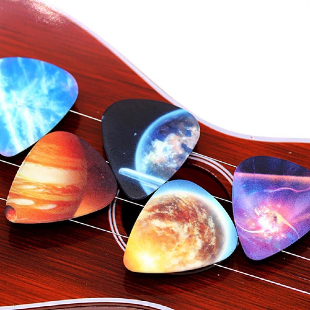 10pcs Colorful Musical Accessories Universe Planet Guitar Picks Mixed Plectrum Musical Instruments S