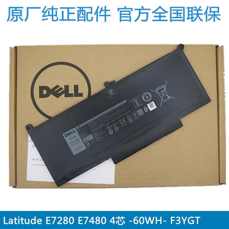 Dell Original batería del ordenador portátil para Dell Latitude E7280 E7290 E7380 E7390 E7480 E7490 60wh 7500mah F3YGT